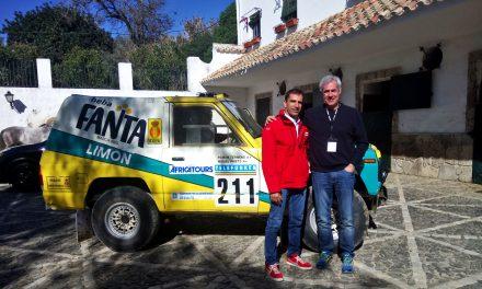 Con Marc Gené y el Nissan Patrol Fanta Limón del Dakar