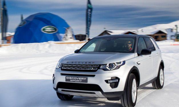 Esquiando con un Land Rover