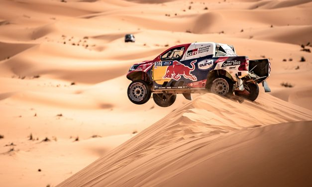 Rallye de Marruecos 2021. Paseo de Al-Attiyah y Baumel